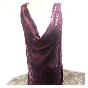Calypso low cut velvet dress